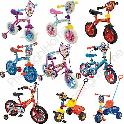 "Kids Boys Girls Trikes Bikes 10"" 12"" 14"" Disney Princess Cars Thomas Peppa Pony"
