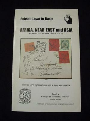 Robson Lowe Auction Catalogue 1980 Africa Near East & Asia