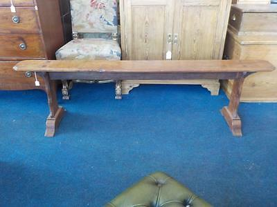 """Antique/ Vintage Cherry wood French Bench Length 71"""""""