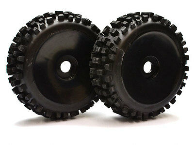 Nanda Racing 1:8th Nanda Block Tyres On Black Dish Wheels x 2 #BW1904