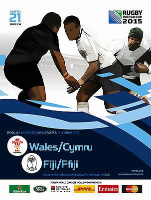 WALES v FIJI 1 Oct RUGBY WORLD CUP 2015 OFFICIAL PROGRAMME Cardiff No 21