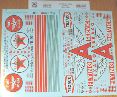 Microscale Decal O #48-434 (2 Sheet set) Gas Station Signs Flying A 1949-1960