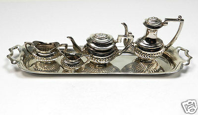 Englisches Miniatur Sterling Silber Service London 1974 925 Silver Miniature Set