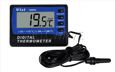Digital Fridge Or Freezer Max Min In Out Thermometer With Alarm  -50~70℃