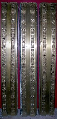 "Art Deco brass and bronze columns - 3 sections - 78"" x 12"" (1930)"
