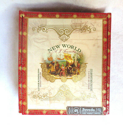 A. Fernandez New World Paper Covered Wood Cigar Box - Nice!- Beautiful Graphics!