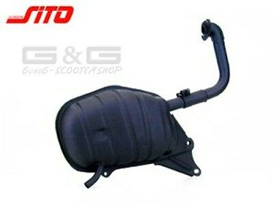 Exhaust for Honda Vision 50 Lead 50 Peugeot Metropolis SC50 with ABE