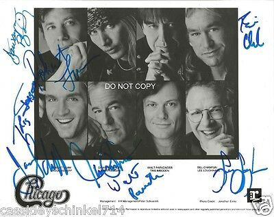 """Chicago band Reprint Signed 8x10"""" Photo #1 RP Robert Lamm Autographed"""