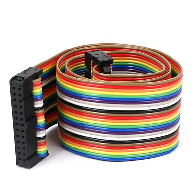 1.4ft 26 Pin 26 Way F/F Connector IDC Flat Rainbow Ribbon Cable