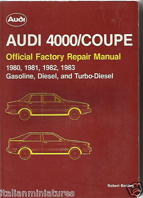 Audi 4000 Coupe B2 Typ 81/85 80 B2 Saloon Workshop Manual Massive Book 1980 - 83