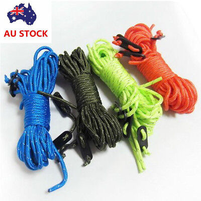 4PCS Fluorescent Guyline Tent Ropes Runners Guy Line Camping Cord Paracord Guide