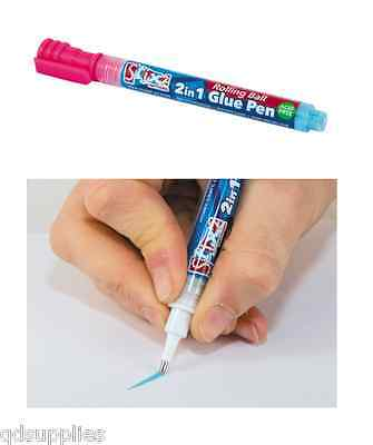 Stix 2 In 1 Glue Pen Fine Metal Nib Rolling Ball Acid Free Photo Safe S57366
