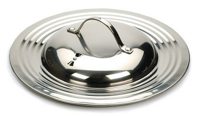 """RSVP Universal Pot/Pan Lid Fits 7"""" - 12"""" Replacement 18/10 Stainless Steel New"""