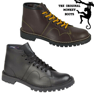 The Original Monkey Boots Grafters Mens Womens Unisex Retro 80s Leather Shoes