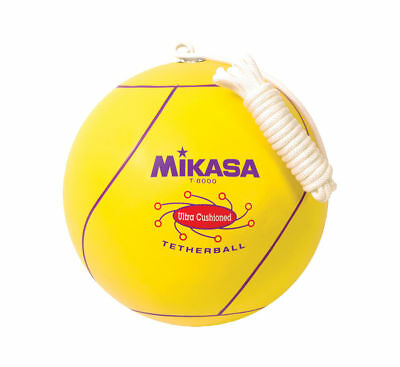 Mikasa Ultra Cushioned Tetherball With Rope, Official Size-Yellow Tether Ball