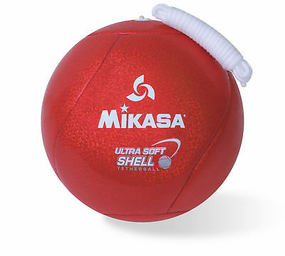 Mikasa Ultra Soft Shell Tetherball With-Rope, Cushioned Cover Tether Ball-Red