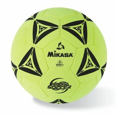 Mikasa Hand Stitched Indoor Soccer Ball W-Durable Felt Cover-Yellow-Black