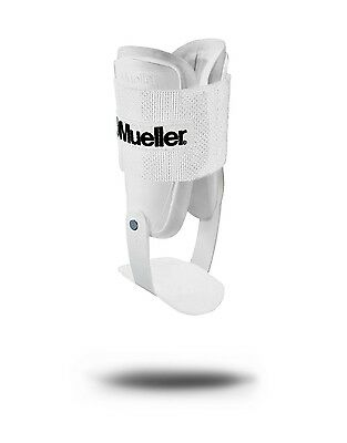 Mueller Sports Lite Active Hinged Ankle Brace Volleyball Basketball White 4554