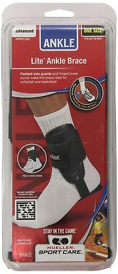 Mueller Sports Lite Active Hinged Ankle Brace Volleyball Basketball Black 4552