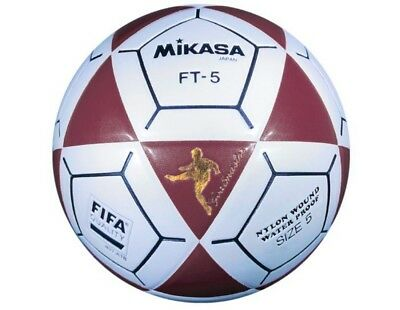 Mikasa Official Goal Master Soccer Football Ball Size 5 White With Red FT5-R New
