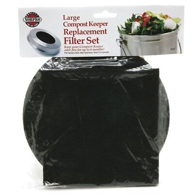 Norpro REPLACEMENT FILTER for Standard Compost Pail/Keeper Charcoal 2 Piece Set