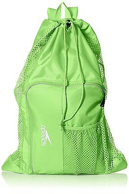 Speedo Swim Deluxe Ventilator Mesh Pool Gear Swimming Bag Jasmine Green