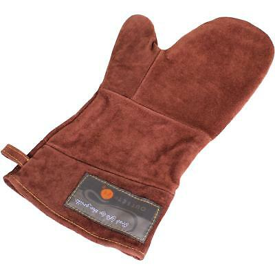Outset Durable Leather Bbq Grill Mitt Heat/Fire Protection Oven Glove Safe New