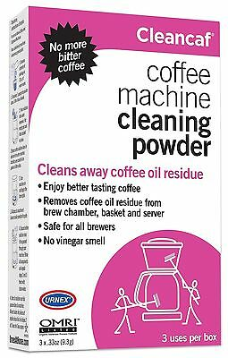 Urnex Cleancaf Non Toxic Biodegradable New Coffee Machine Cleaner Descale