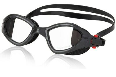 Speedo Fitness MDR 2.4 Swim Swimming Speed Fit Polarized Lenses Goggles, Black