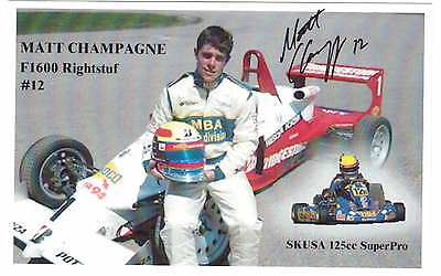 Canadian Racing Driver Matt Champagne Autographed Photo-Card !!