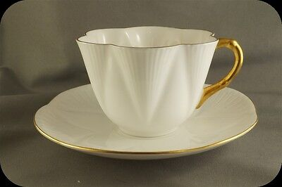 Shelley Dainty White Regency Cup and Saucer