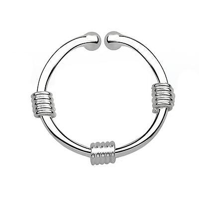 925 Sterling Silver Fake Septum Clicker Hanger Clip On Nose Ring Wires and Balls