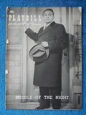 Middle Of The Night - ANTA Theatre Playbill - May 20th, 1957 - Edward G Robinson