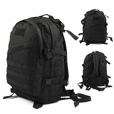 40L Molle 3D Military Tactical Backpack Rucksack Hike Camping Trekking Bag Black