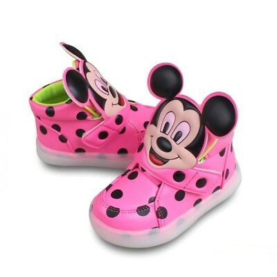 Very Cute Mickey Mouse Baby Toddler Kids Led Lights Shoes UNISEX HOT
