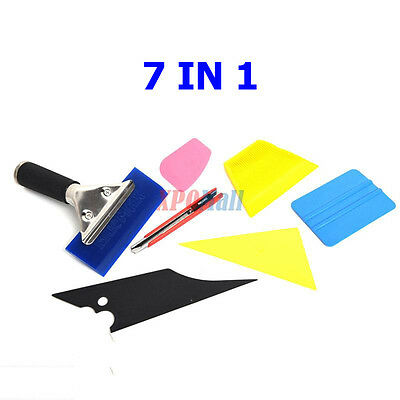 7 in 1 Car Window Film Tools Squeegee Scraper Set Tinting Kit Auto Home Tint US