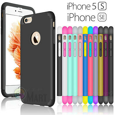 Hybrid Rubber Ultra-thin Slim Shockproof Hard Case Cover Skin for iPhone SE 5 5S