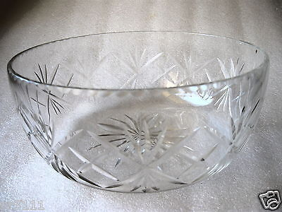 CRYSTAL DECORATIVE CUT SERVING BOWL Top QUALITY Large