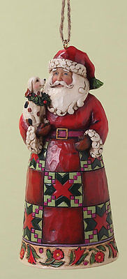 Heartwood Creek Santa with Puppy Hanging Christmas Tree Ornament  NEW  18147
