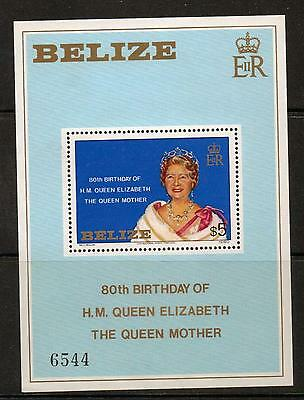 Belize Sgms593 1980 Queen Mother Mnh