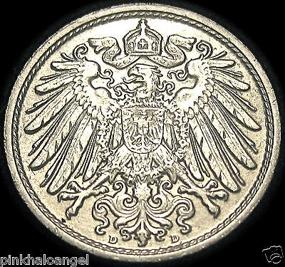 Germany - German Empire - German 1913D 10 Pfennig Coin - GREAT COIN