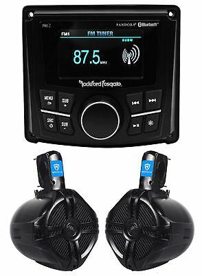 "Rockford Fosgate PMX-2 2.7"" Marine Digital Media Receiver w/Bluetooth+Wakeboards"