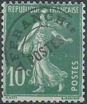 """FRANCE PREOBLITERE TIMBRE STAMP N° 51 """"TYPE SEMEUSE 10C VERT """" NEUF x TB"""