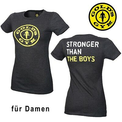 Golds Gym Damen T-Shirt Stronger Than The Boys - Gym Fitness Sport Bekleidung