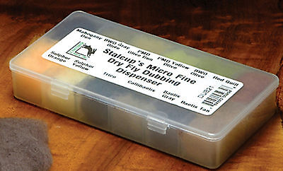 STALCUP'S MICRO FINE DRY FLY Dub Dispenser - 12 Dubbing Colors fly tying