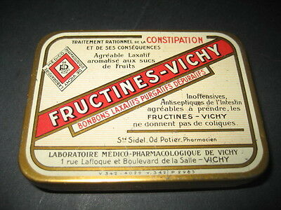 Antigua Caja Metal De Farmacia Fructines - Vichy