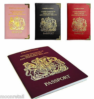 UK PASSPORT HOLDER Protector Cover Wallet PU Faux Leather Travel Organiser Case
