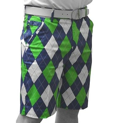 Royal and Awesome Originale Pantaloncini Da Golf (Blu On The Verdi)