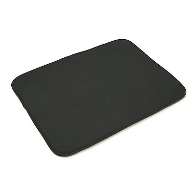 "Norpro 16"" x 18"" Black Absorbent Microfiber Glass Reversible Dish Drying Mat Pad"