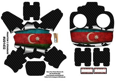 Azerbaijan Flag DJI Phantom 3 Standard Decal Skin Wrap Sticker